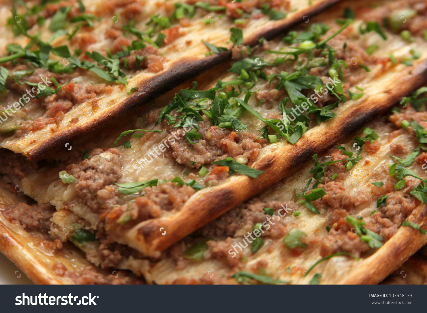 Turkish Pizza Stock Photo 103948133.