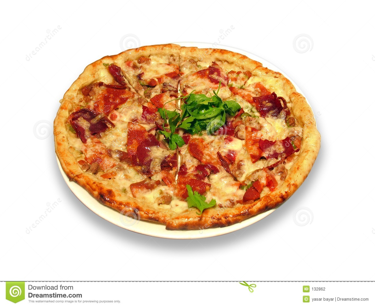 Turkish Pizza Stock Photography.