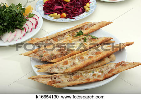 Stock Photography of Turkish Pizza k16654130.