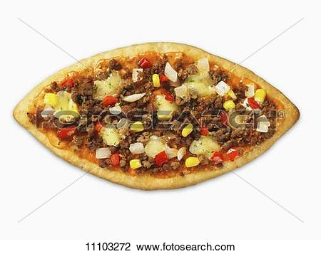 Stock Photo of A Turkish pizza (lahmachun) 11103272.
