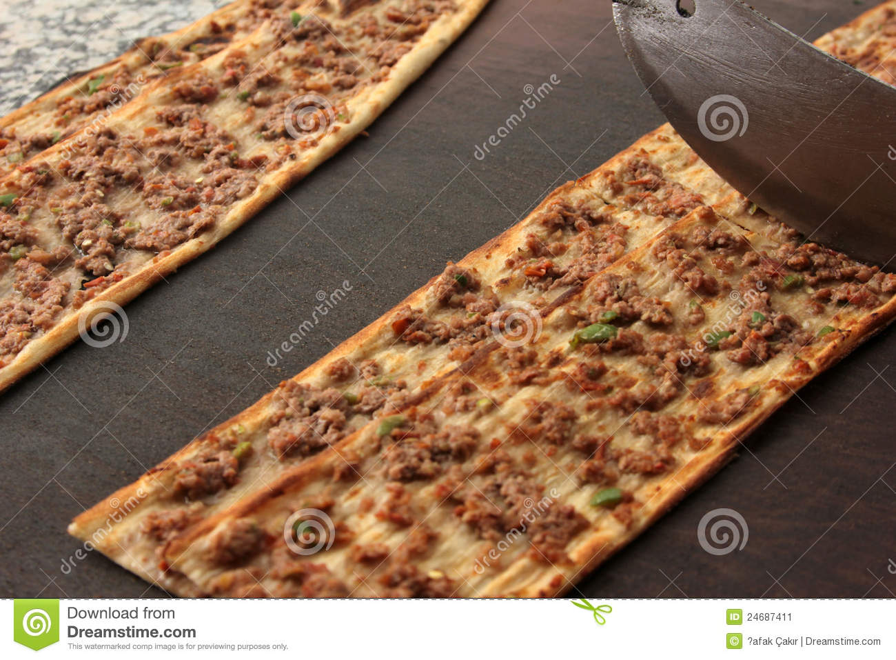 Turkish Pizza Stock Image.