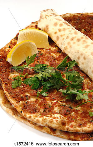 Stock Images of turkish pizza k1572416.