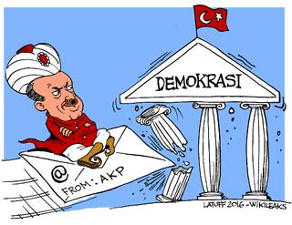 Wikileaks releases Turkish President Erdogan's emails.