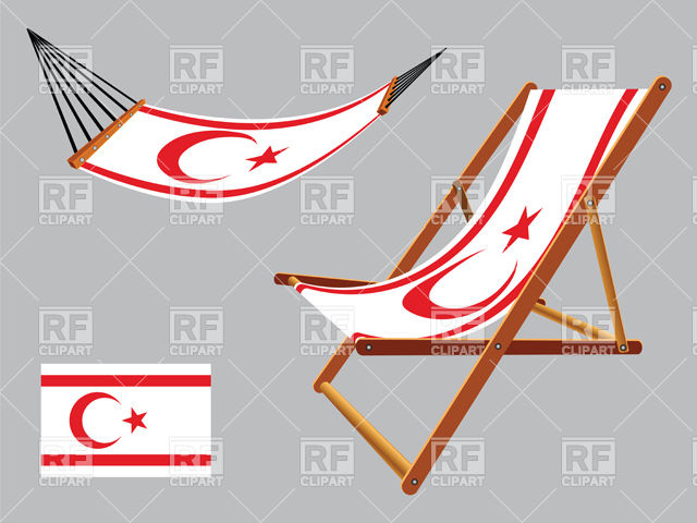 Turkish Republic of Cyprus hammock and deck chair Vector Image.