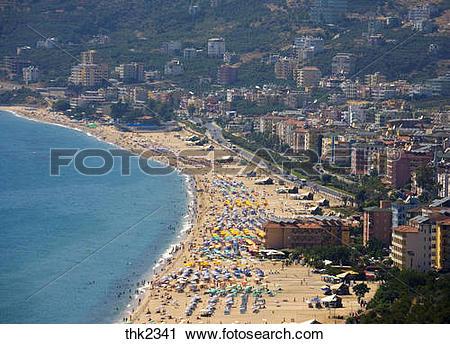 Stock Photography of Turkish Riviera Cleopatra Beach Alanya.