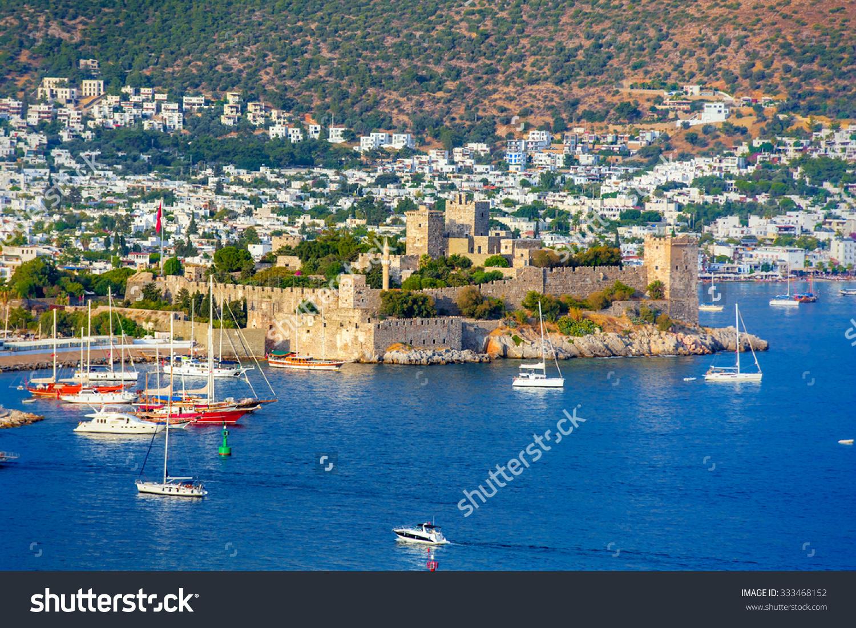 Aerial View Of Bodrum On Turkish Riviera. Stock Photo 333468152.