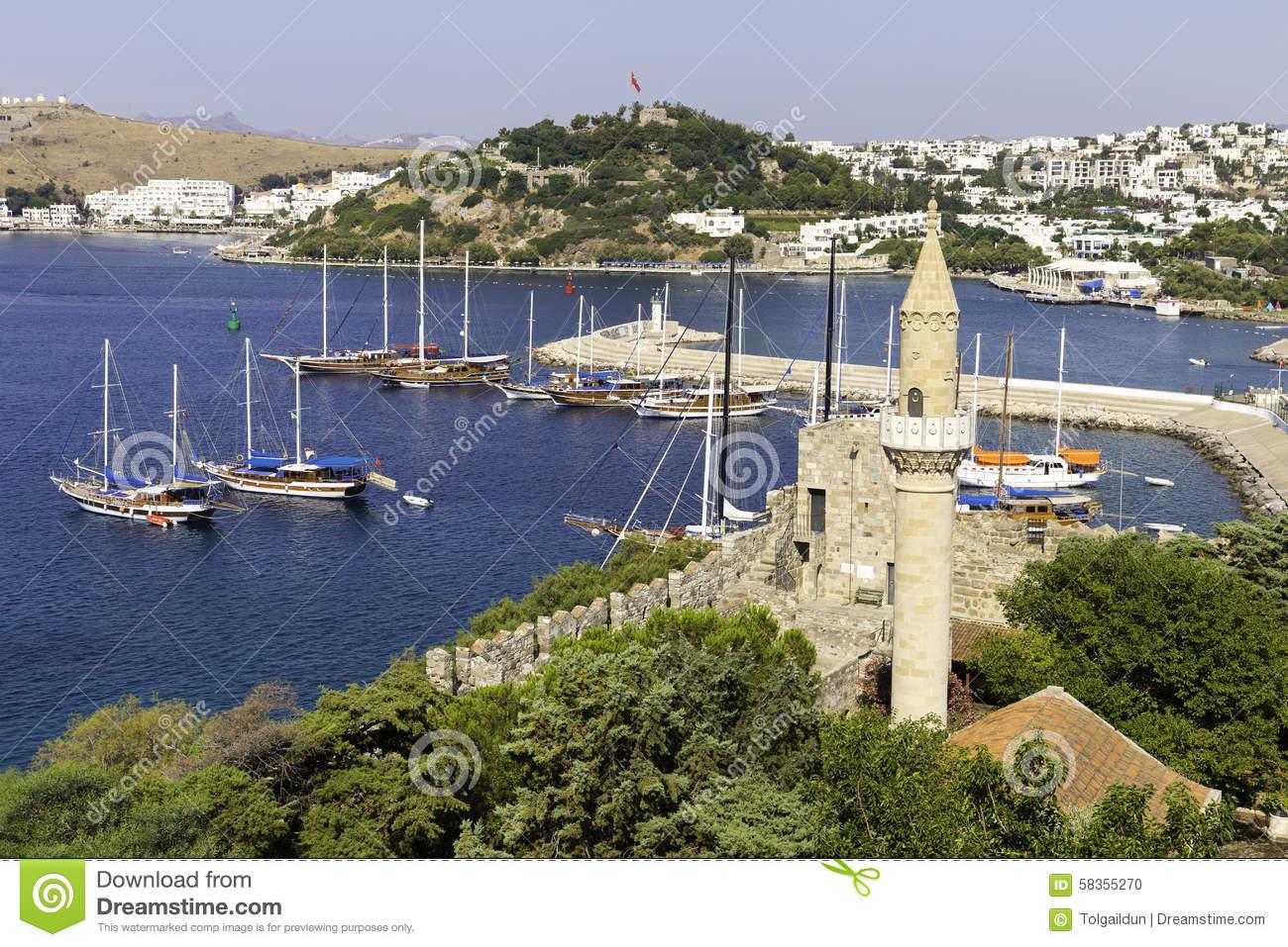 View Of Halikarnas, Bodrum Marina From Bodrum Castle On Turkish.