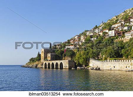 "Stock Photo of ""Ancient Seljuk shipyard, Tershane, Tophane, Alanya."