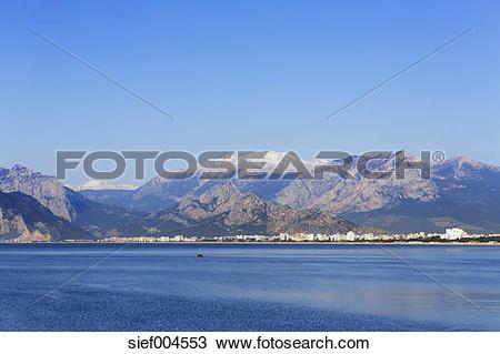 Stock Photo of Turkey, Antalya, Turkish Riviera with Konyaalti.
