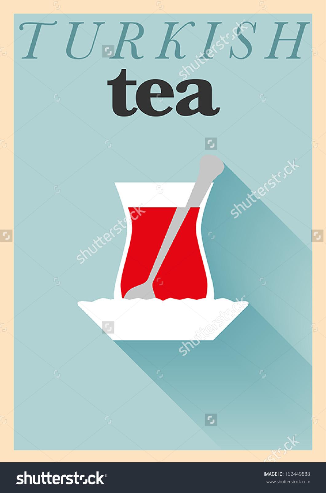 Turkish tea clipart.