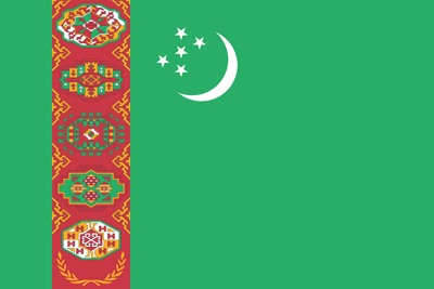 Turkmenistan flag clipart.