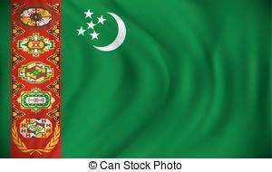 Flag of turkmenistan Clipart Vector and Illustration. 169 Flag of.