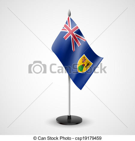Clipart Vector of Table flag of the Turks and Caicos Islands.