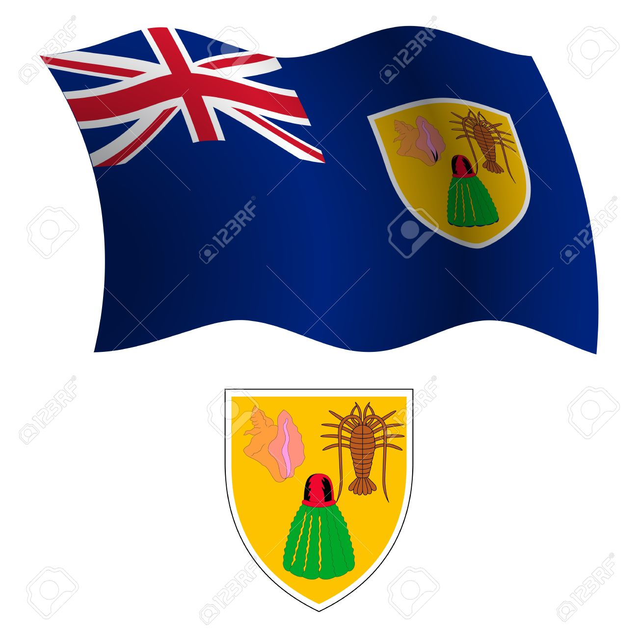 Clip Art Turks and Caicos.