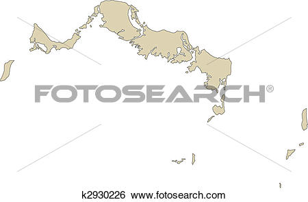 Clip Art of Turks and Caicos, Island k2930226.