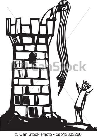 Clip Art Vektor von rapunzel's, Turm.