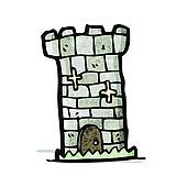 Clipart of cartoon castle tower k22244440.