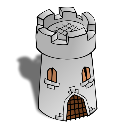 Round Tower map vector symbol.