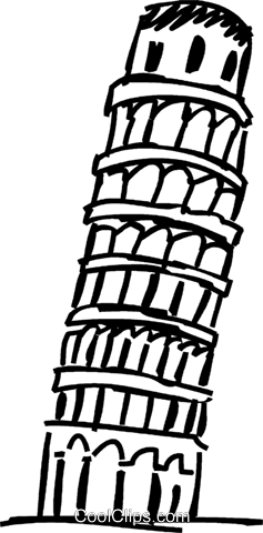 Turm Von Pisa Clipart.