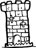 Clipart of cartoon castle tower k15551875.