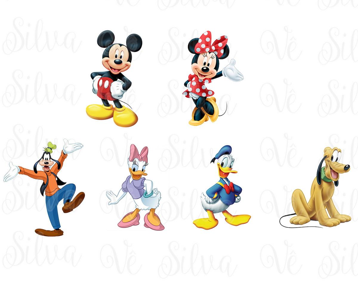 Aplique Turma do Mickey.