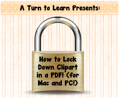 How to Lock Down Clipart in a PDF.