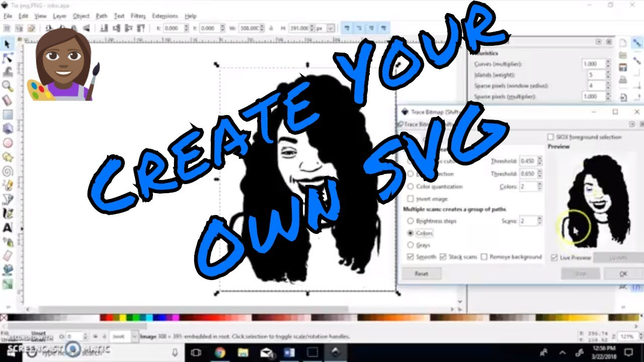 How to make a SVG File Using inkscape.