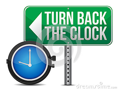 Turn Back Clock Stock Illustrations.