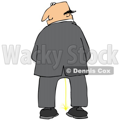 Clipart man on back.