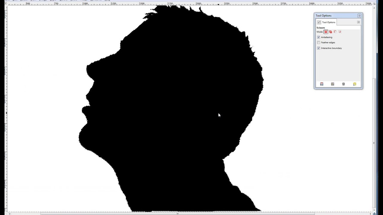 How to cut out someone in a picture or make a Silhouette with Gimp.