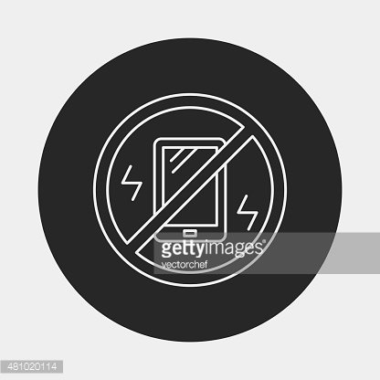 turn into vibration line icon Clipart Image.