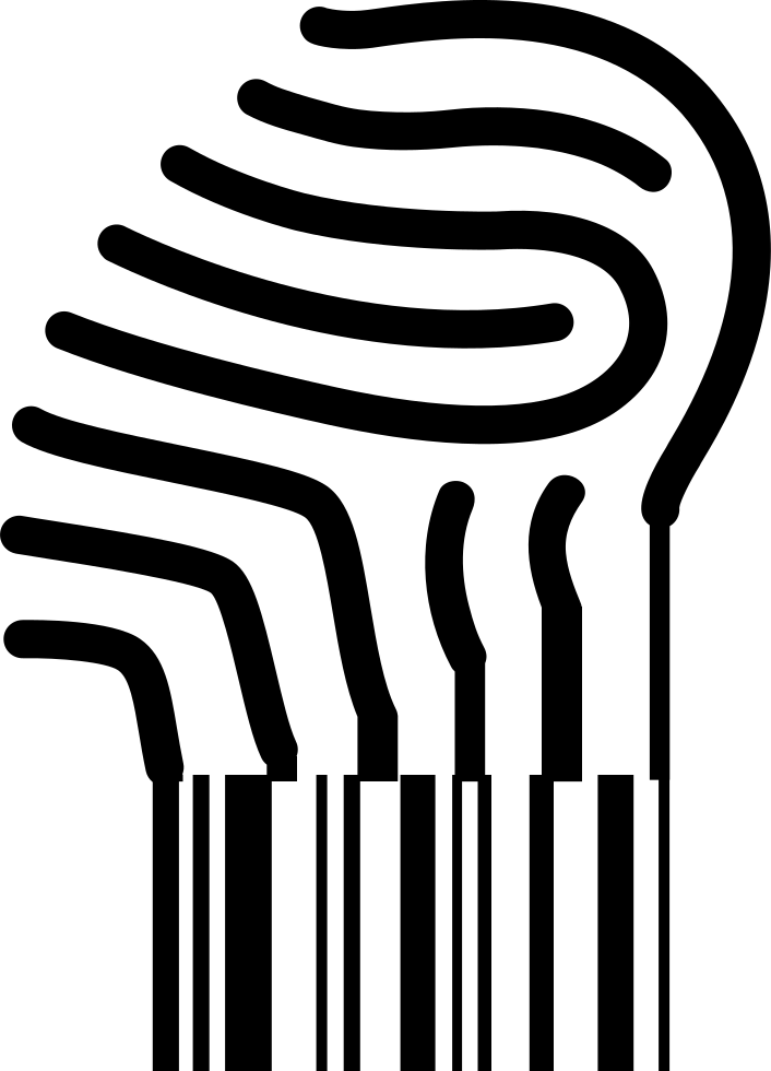 Fingerprint Turning Into A Barcode Svg Png Icon Free.