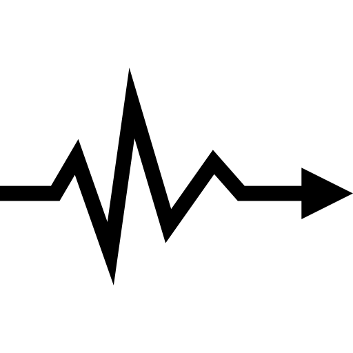 Lifeline turning into directional arrow.