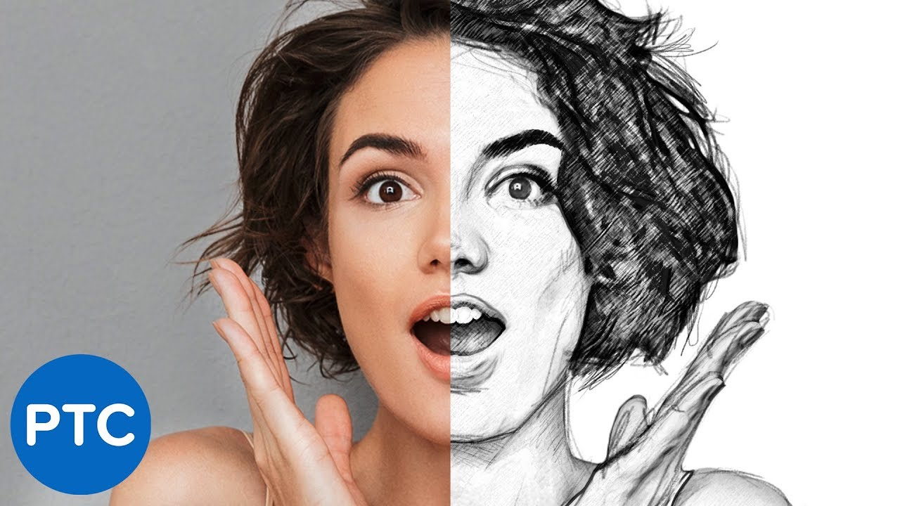 5 EASY Steps to Create a REALISTIC Line Drawing From a Photo In Photoshop.