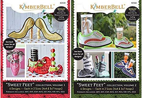 Amazon.com: Kimberbell Machine Embroidery CD Sweet Feet.