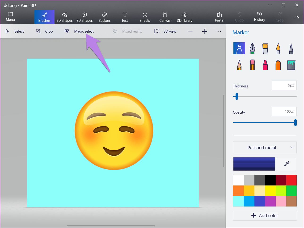 How to Make Background Transparent in Paint 3D.