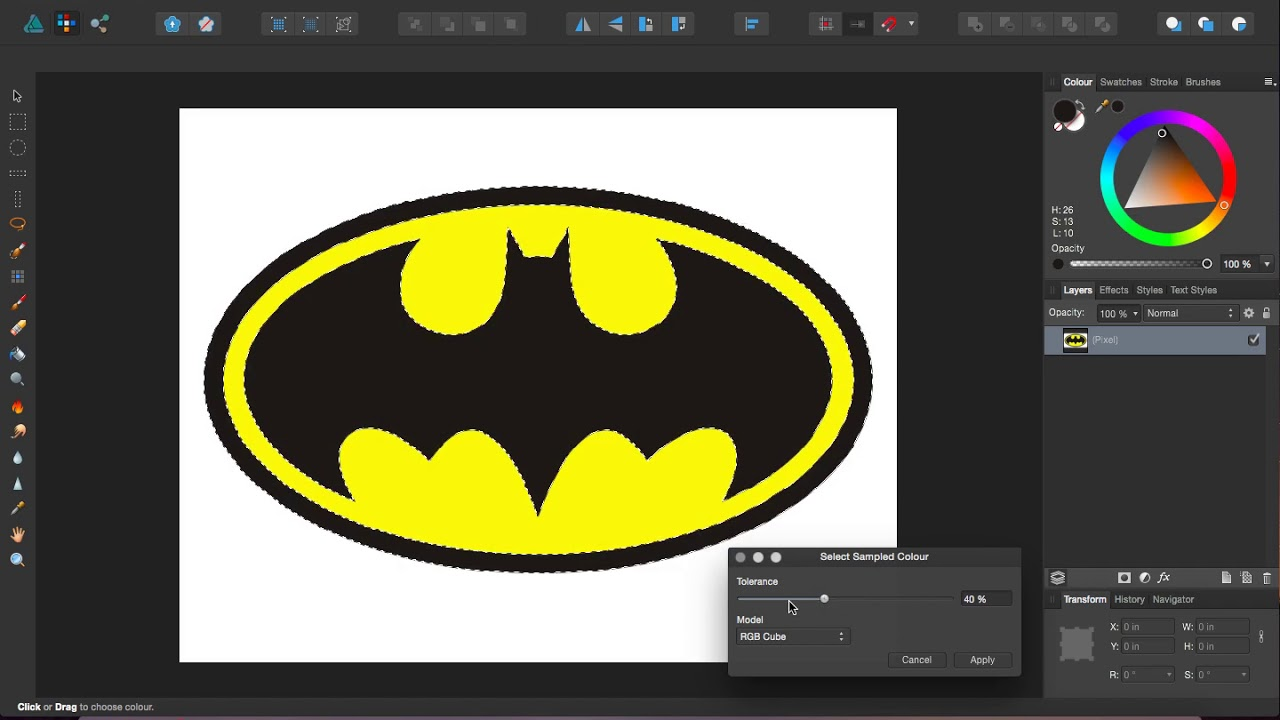How to Quickly Convert a JPG to a Transparent PNG in Affinity Designer.