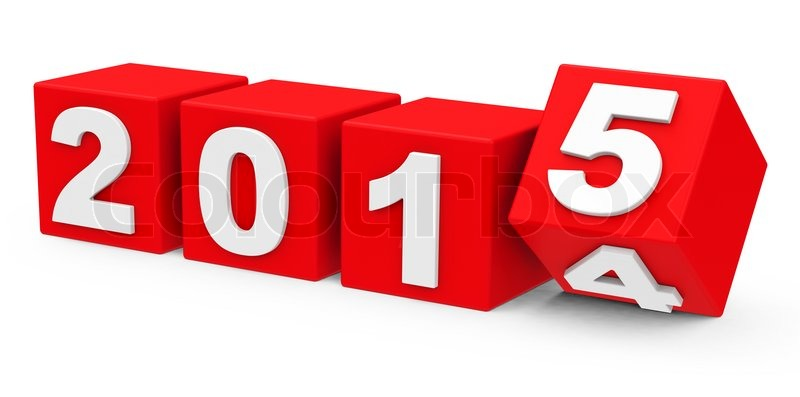 3d generated picture about turn of the year.