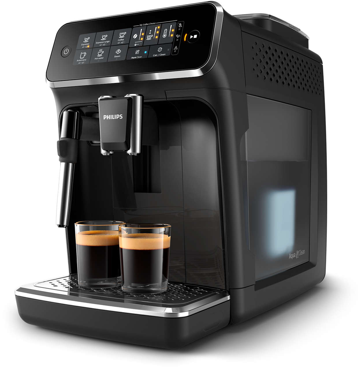 Fully automatic espresso machines.