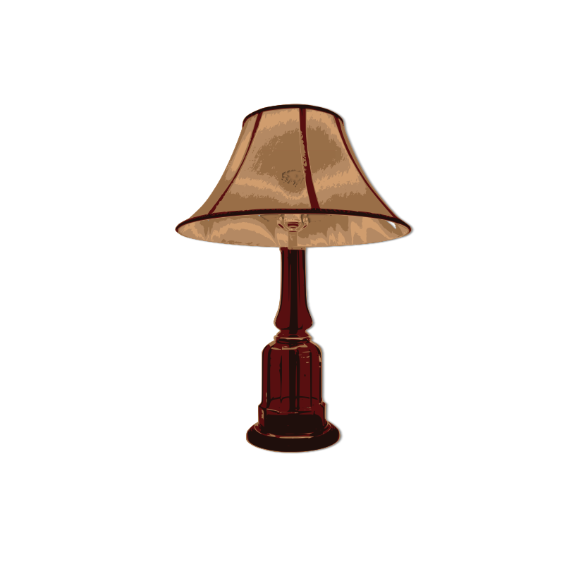 Free Clipart: Table lamp turn off.