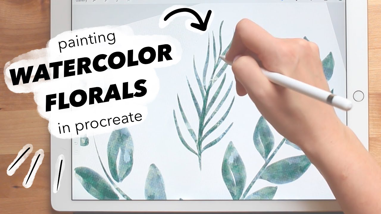 How I Make Watercolor Clipart to Sell.