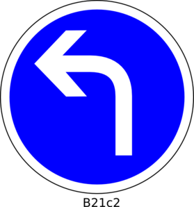 Left Turn Only Clip Art at Clker.com.