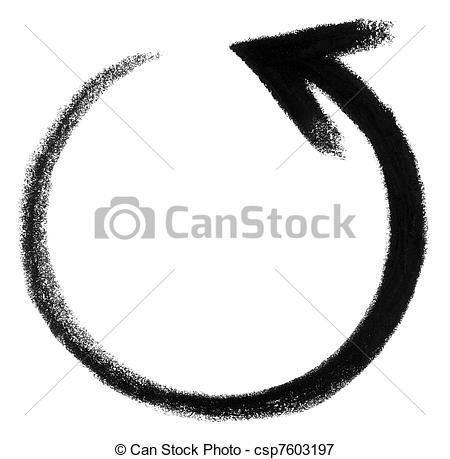 Stock Illustrations of round arrow sketch.