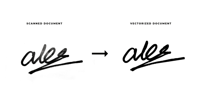 turn your signature into a high quality vector.