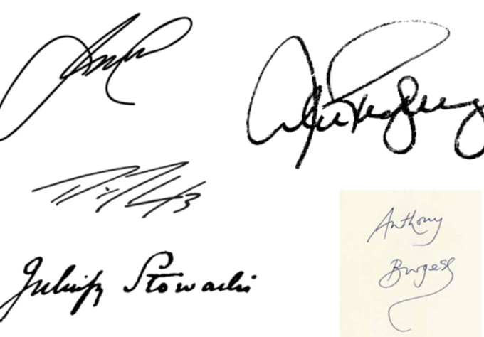 turn your actual autograph / signature into a transparent background image.