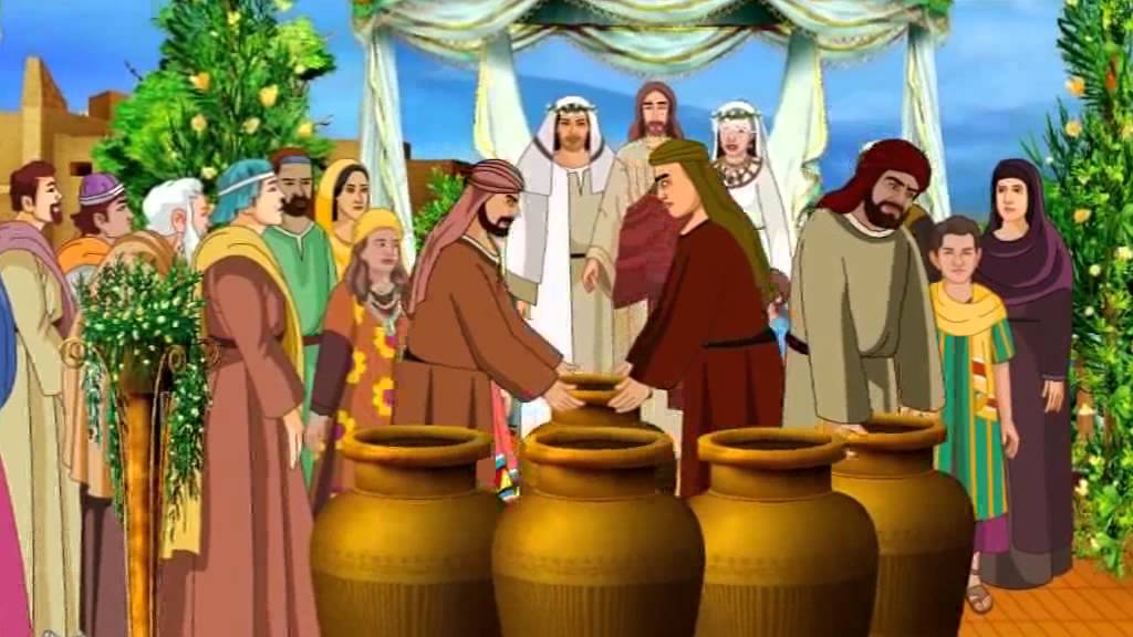 Jesus Turns Water into Wine In The Wedding At Cana ( Bible.