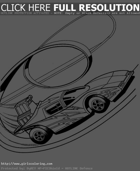 Hot Wheels Track Turn Coloring.