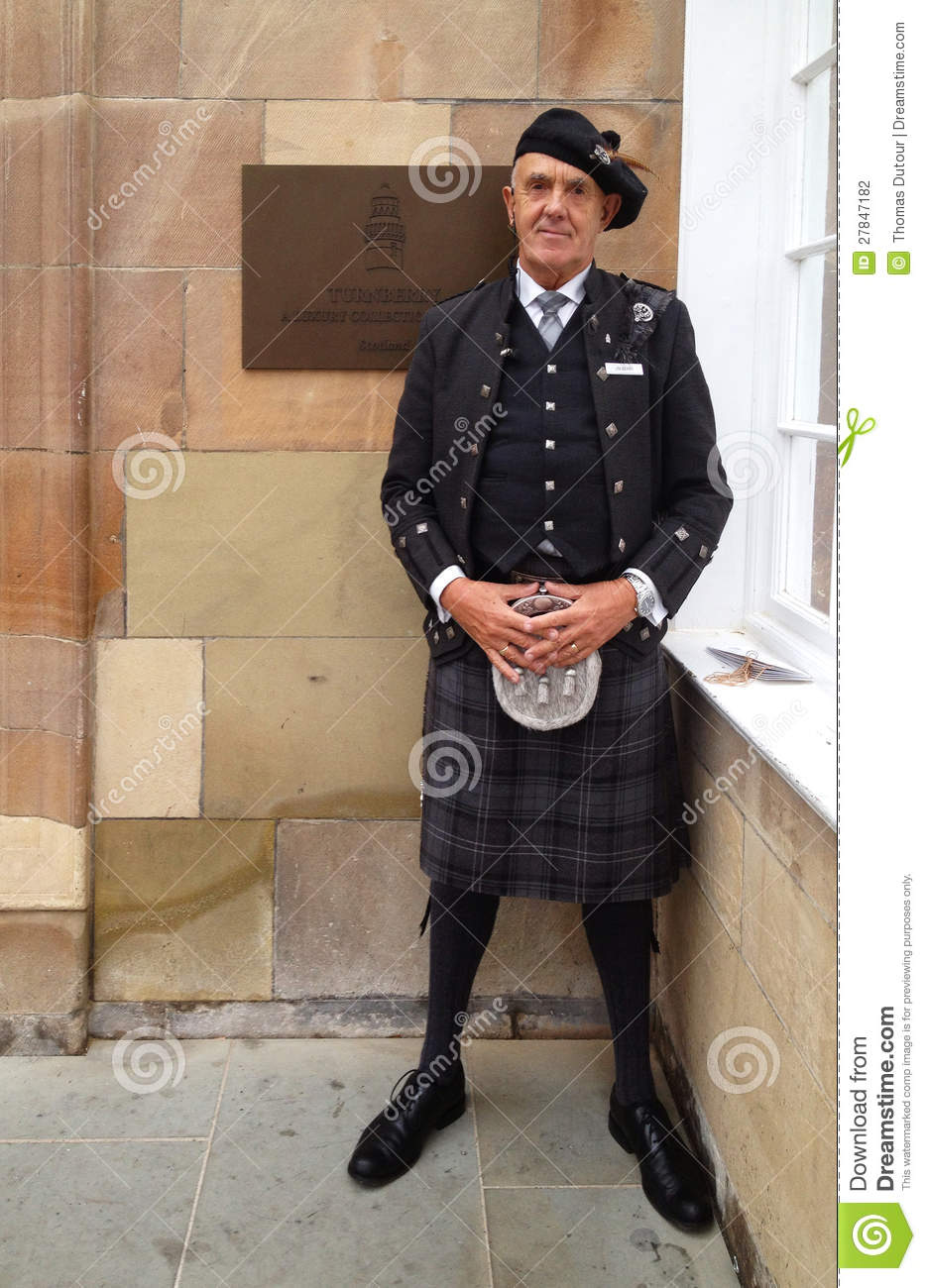 Doorman At The Turnberry Hotel Editorial Photography.
