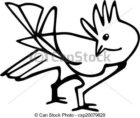 Vector Illustration of Bird.