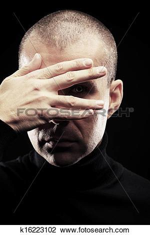 Stock Photo of turn blind eye k16223102.